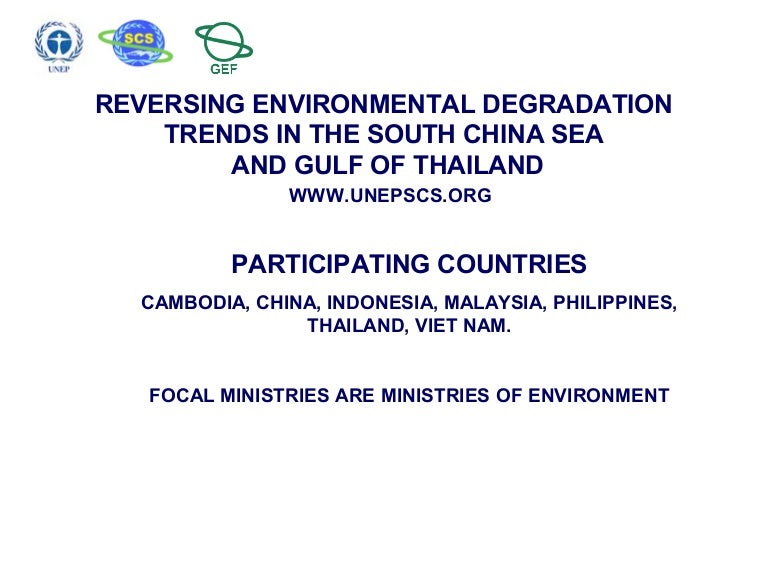 Reversing environmental degradation trends in the south china sea an publicscrutiny Images