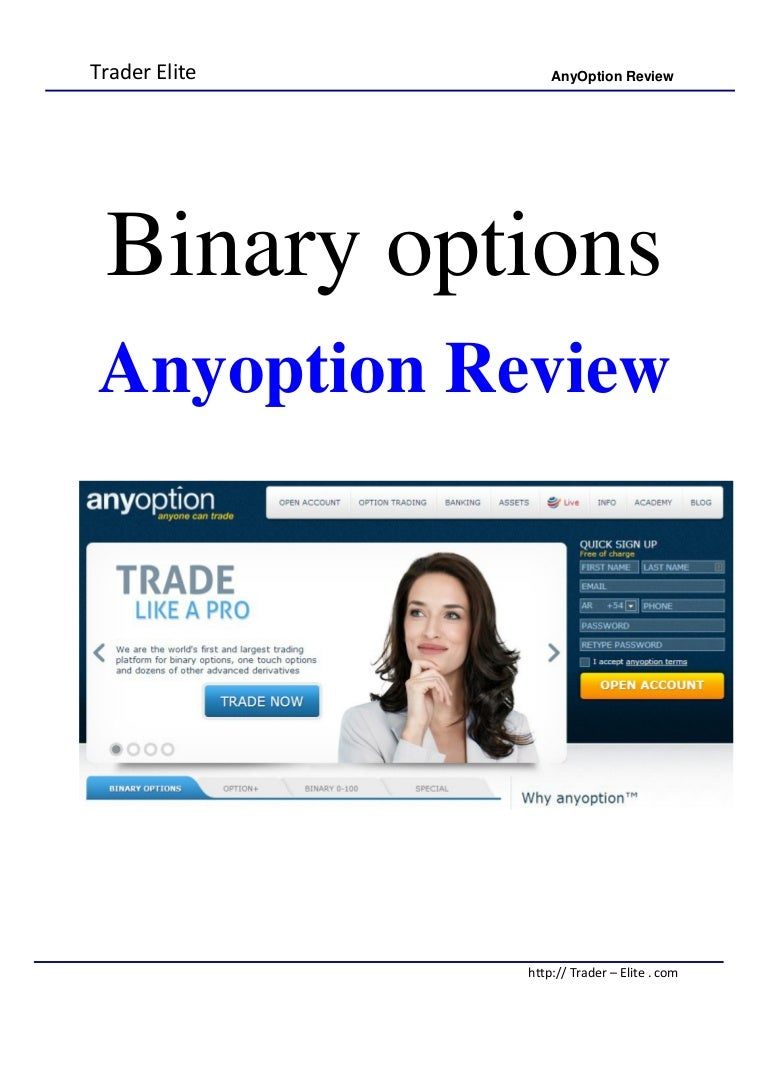 Any Option Review
