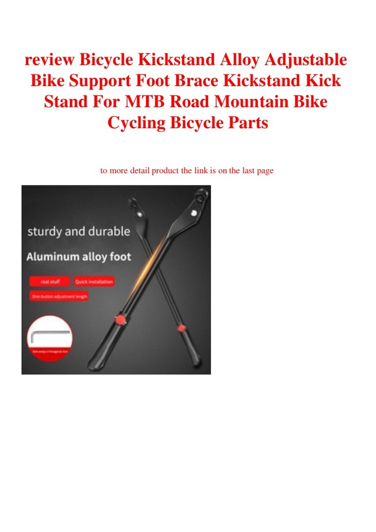 Bicycle Kick Stand Alloy Adjustable Brace Foot MTB Mountain Cycling Bike Parts