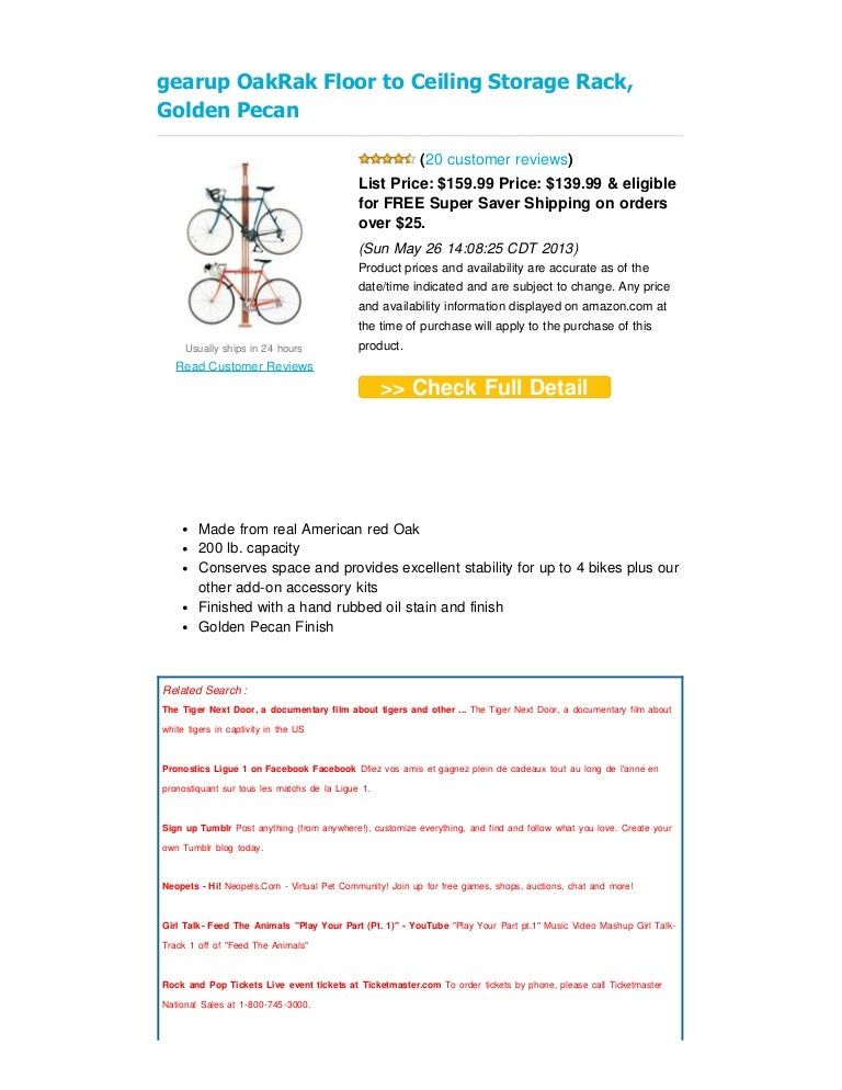 OakRak Series-Add 1 Bike Kit-Golden Pecan Gear Up
