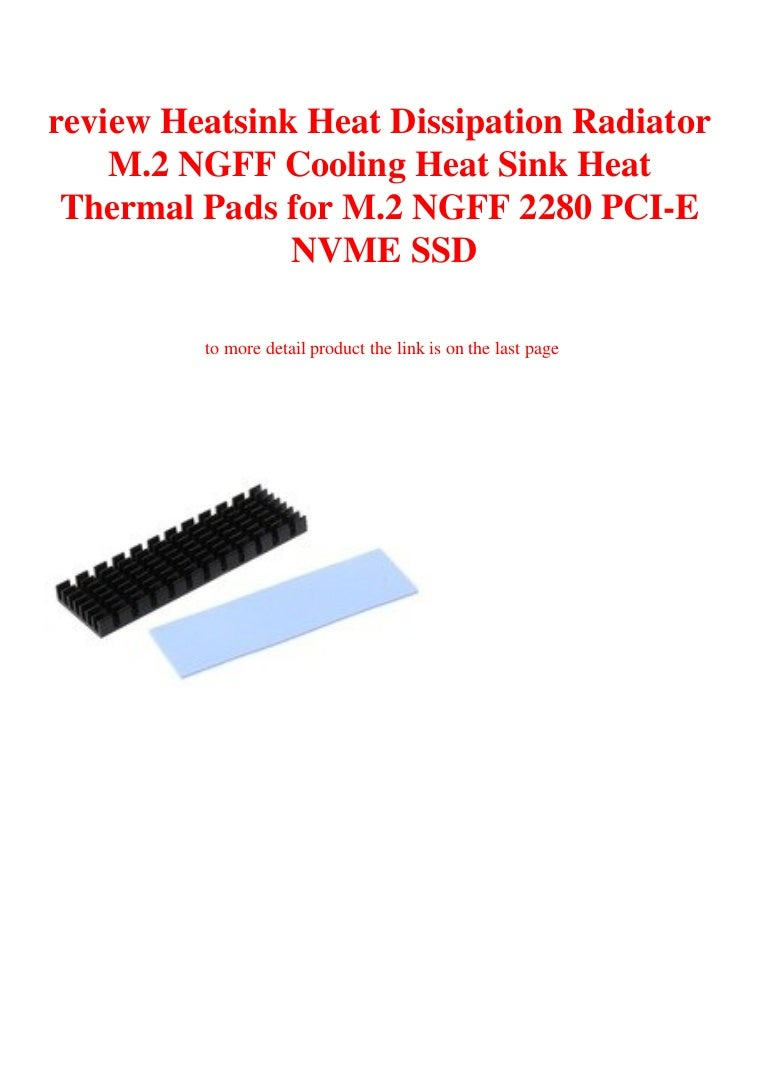 Heatsink Dissipation Radiator Cooling Thermal for M.2 NGFF 2280 PCI-E NVME SSD