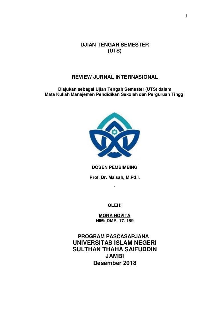 Review Jurnal Internasional Mona Novita Assessment Of The Quality Ma