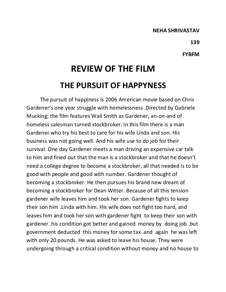 The pursuit of happiness essay the pursuit of happiness essay