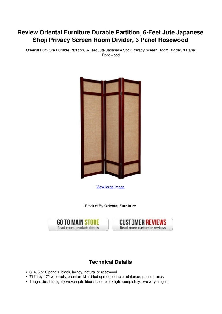 Review Oriental Furniture Durable Partition 6 Feet Jute