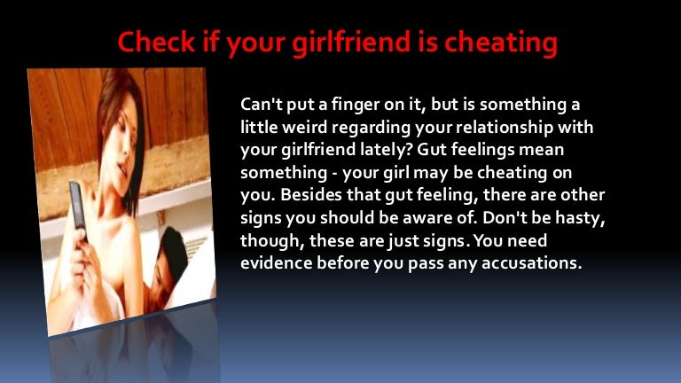 Signs Your Girl Is Cheating On You
