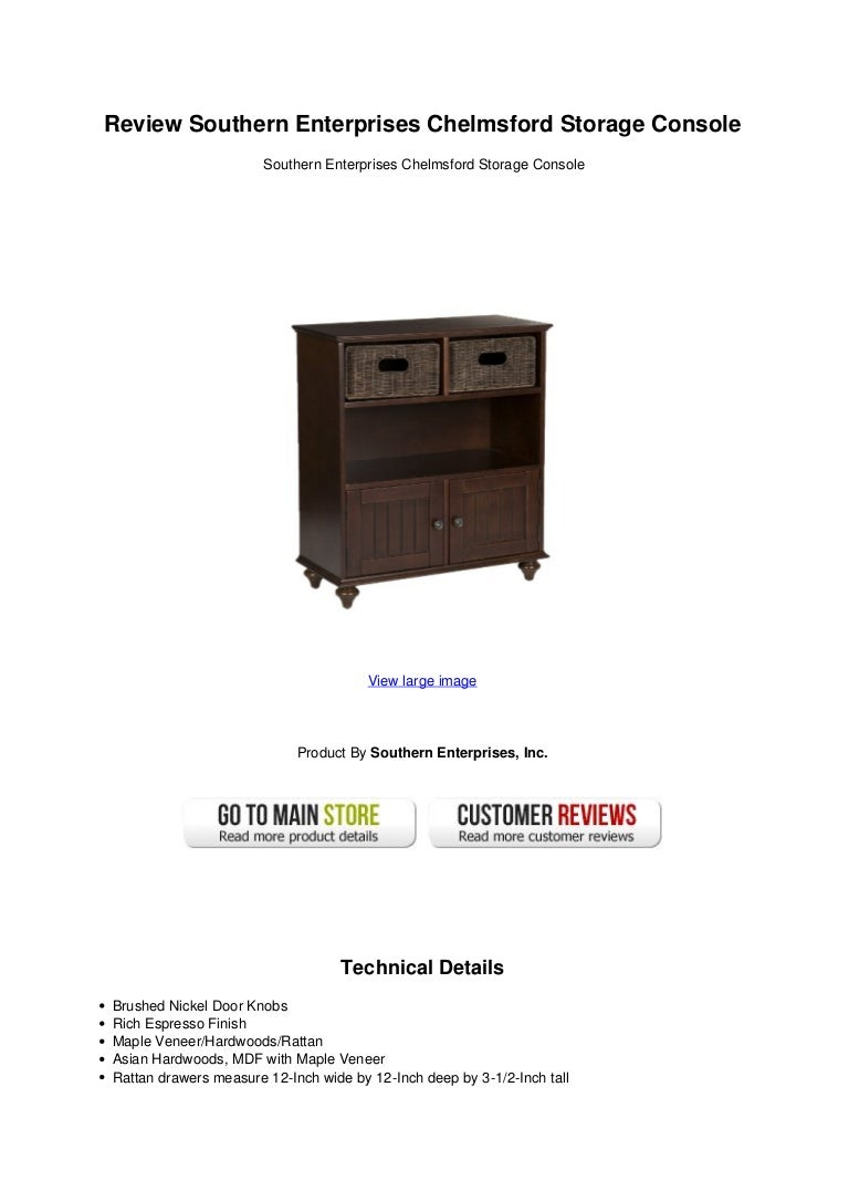 Review Southern Enterprises Chelmsford Storage Console