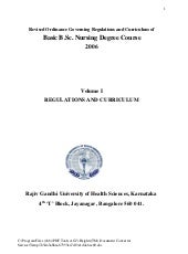 Revised B. Sc. Nursing Syllabus