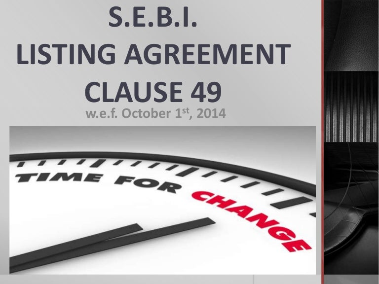 Revised Corporate Governance Norms Clause 49 Of Listing Agreement