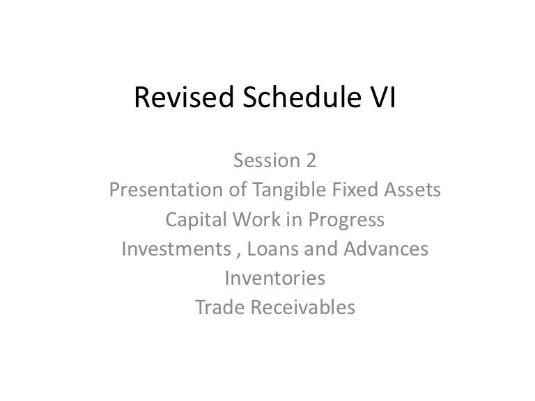 Revised Schedule Vi Pdf Format