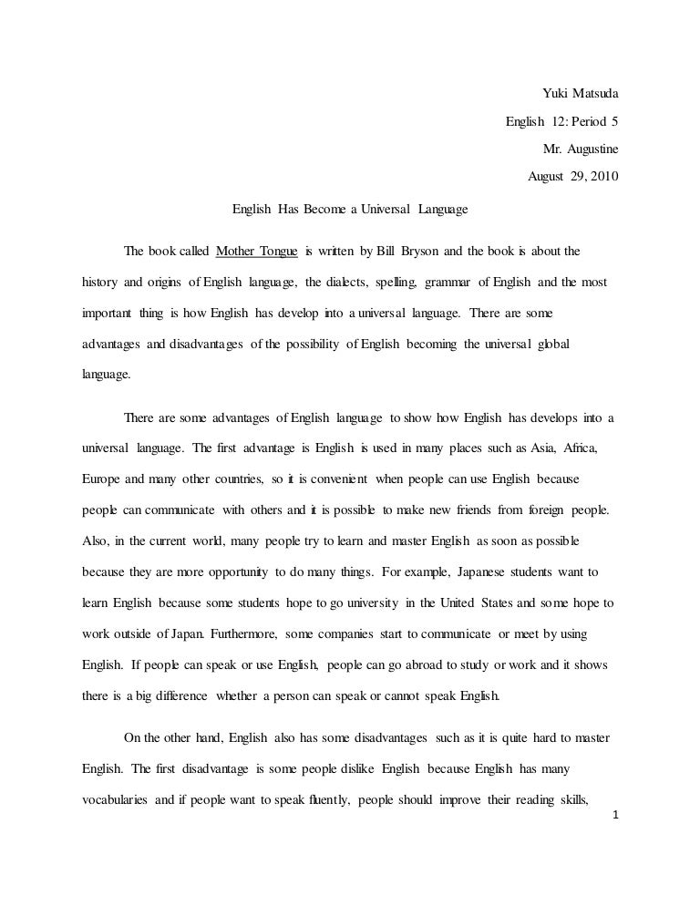 mother tongue essay