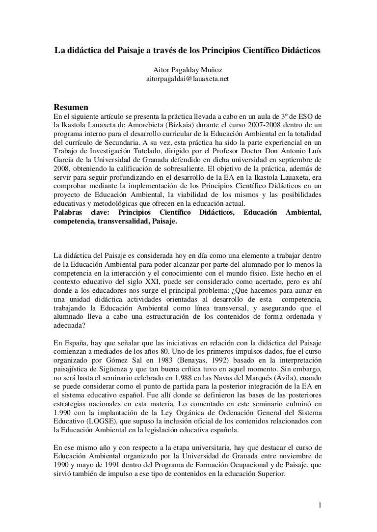 Revista de educación ambiental El paisaje y su didactica a traves de …