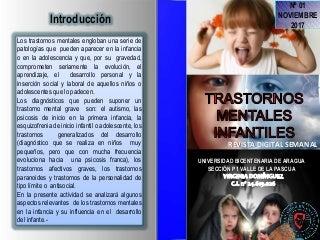 Revista digital: trastornos mentales de la infancia