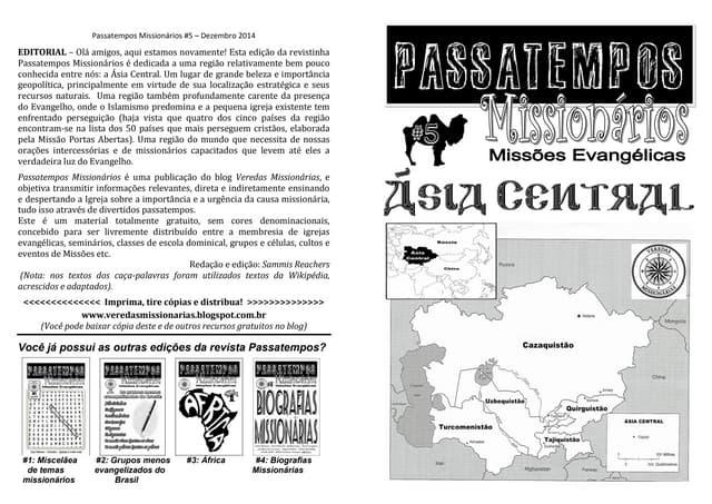 Revista passatempos missionarios 5   asia central
