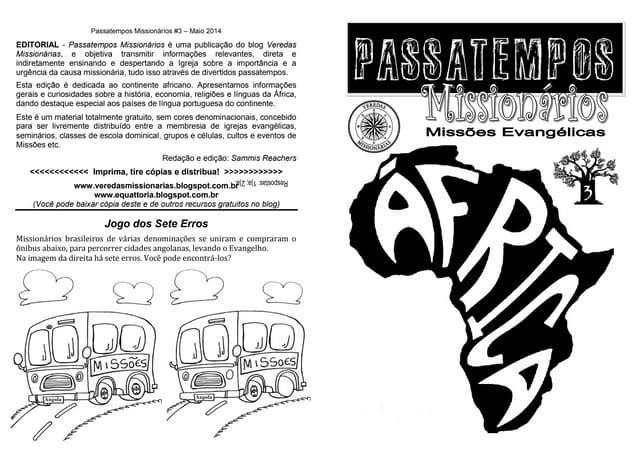 Revista Passatempos Missionários 3 - África