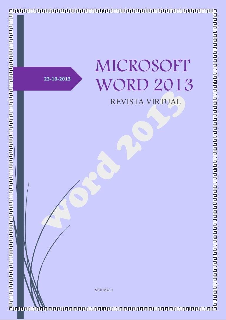 Revista virtual, Herramientas de Word. pdf