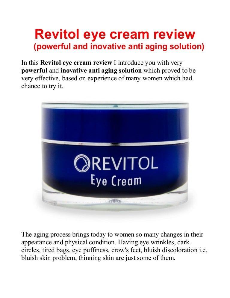 Revitol Eye Cream Review