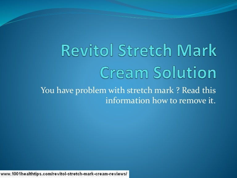 Revitol Stretch Mark Cream Best Stretch Mark Removal Cream