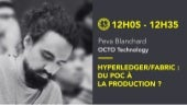 "La Duck Conf : ""Hyperledger / Fabric : du POC à la production ?"""