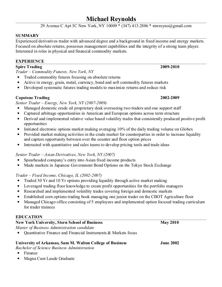 mike reynolds resume