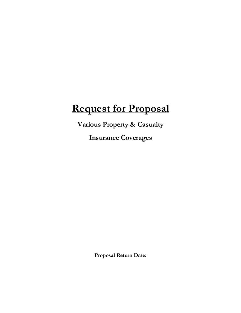 Insurance Request For Proposal Template