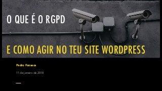 O que é o RGPD e como agir no teu site WordPress