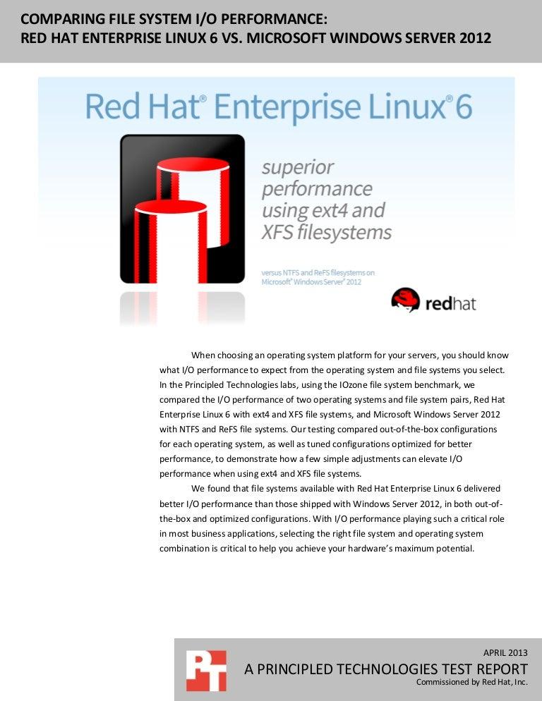 Comparing file system performance: Red Hat Enterprise Linux 6 vs  Mic…
