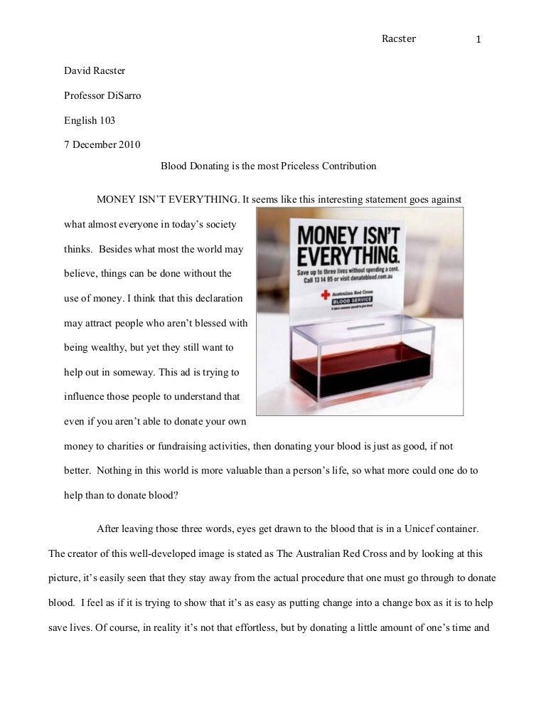 visual rhetorical analysis essay sample - Example Of A Rhetorical Essay