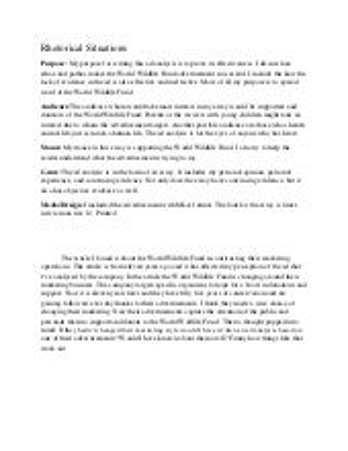 rhetorical situations of essay
