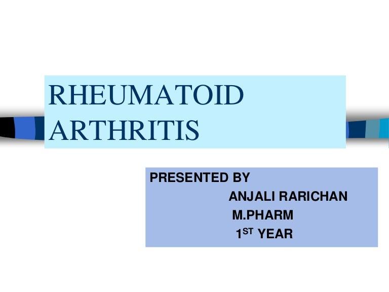 Rheumatoid arthritis. - ppt letölteni