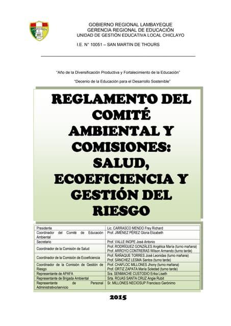 Reglamento del Comite Ambiental y Comisiones