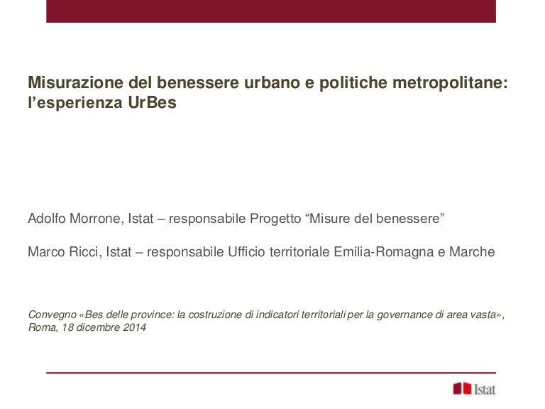 A Morrone M Ricci Misurazione Del Benessere Urbano E Politiche Me