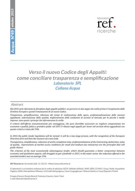 Verso il nuovo Codice degli Appalti: come conciliare trasparenza e semplificazione