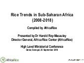 Rice Trends in Sub-Saharan Africa (2008-2018)