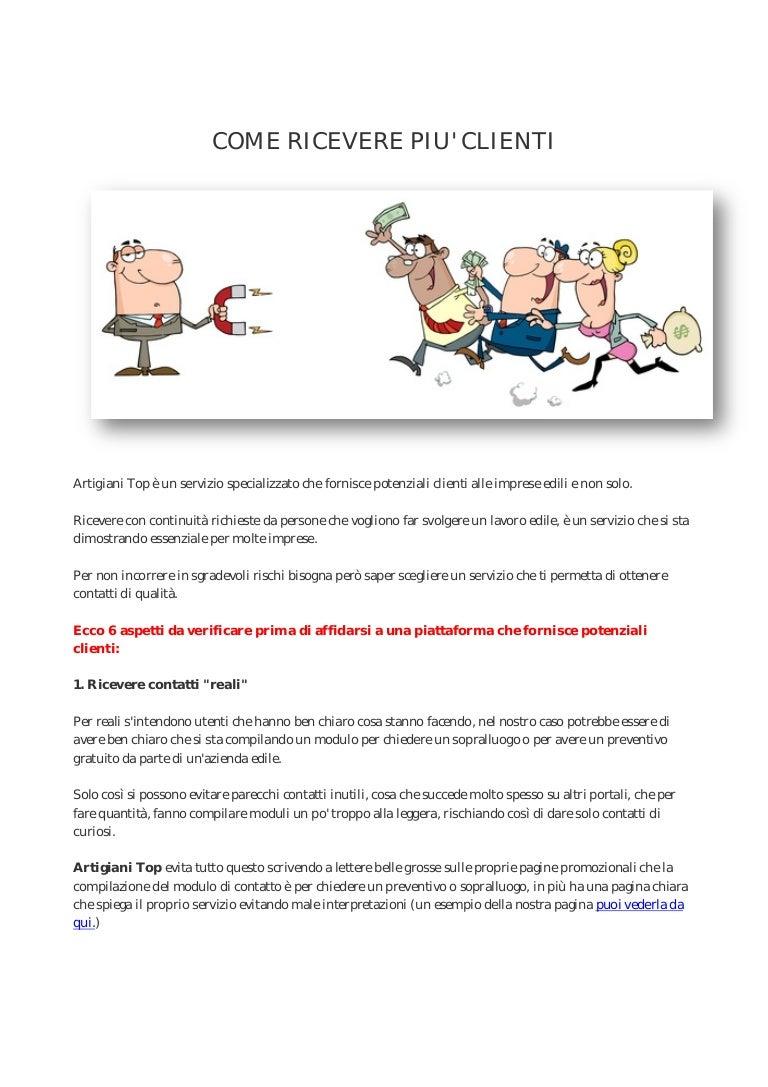 Clienti Per Imprese Edili come ricevere piu' clienti