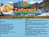 Zafarani Basmati Rice with spices Basmati brown rice