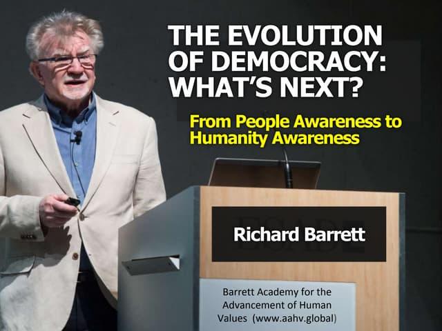 Richard barrett the evolution of democracy