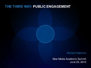 Richard Edelman -- New Media Academic Summit 2010