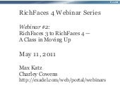 RichFaces 4 webinar #2: RichFaces 3 toRichFaces 4