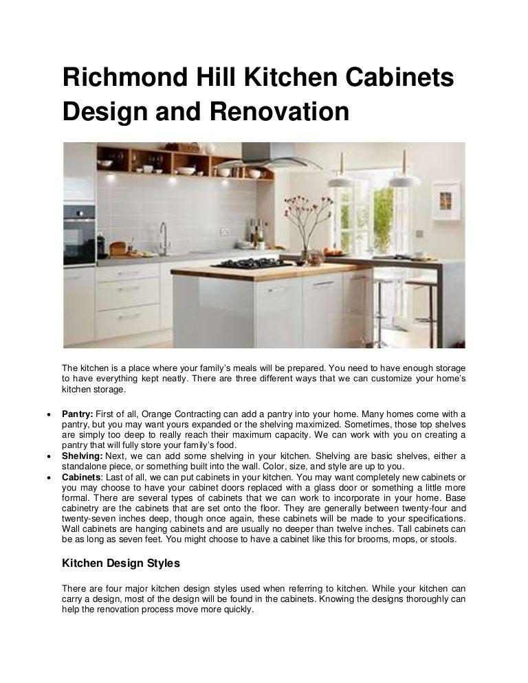 Richmond Hill Kitchen Cabinets Design And Renovation
