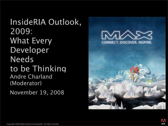 InsideRIA Outlook for 2009