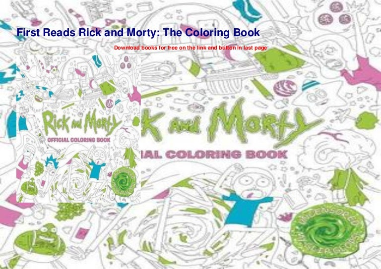 First Reads Rick And Morty The Coloring Book