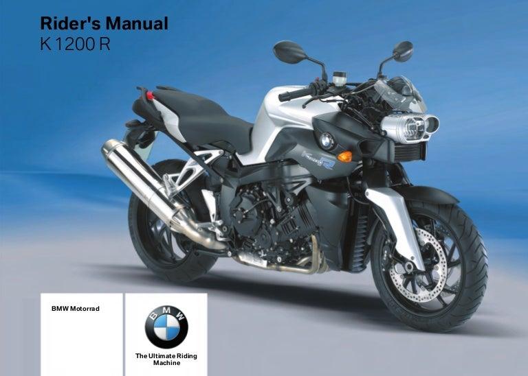 rider s manual k 1200 r 2008 rh slideshare net bmw k1200 manual bmw k1200r service manual