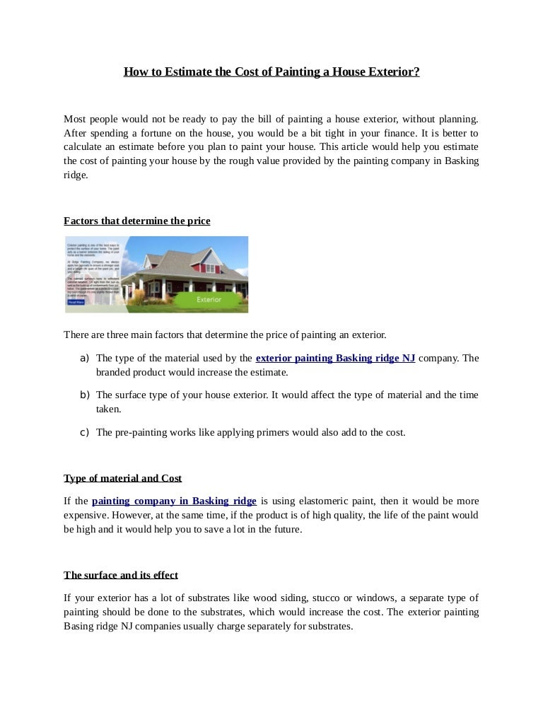 How to Estimate the Cost of Painting a House Exterior