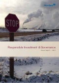 Responsible investment & governance annual report 2012