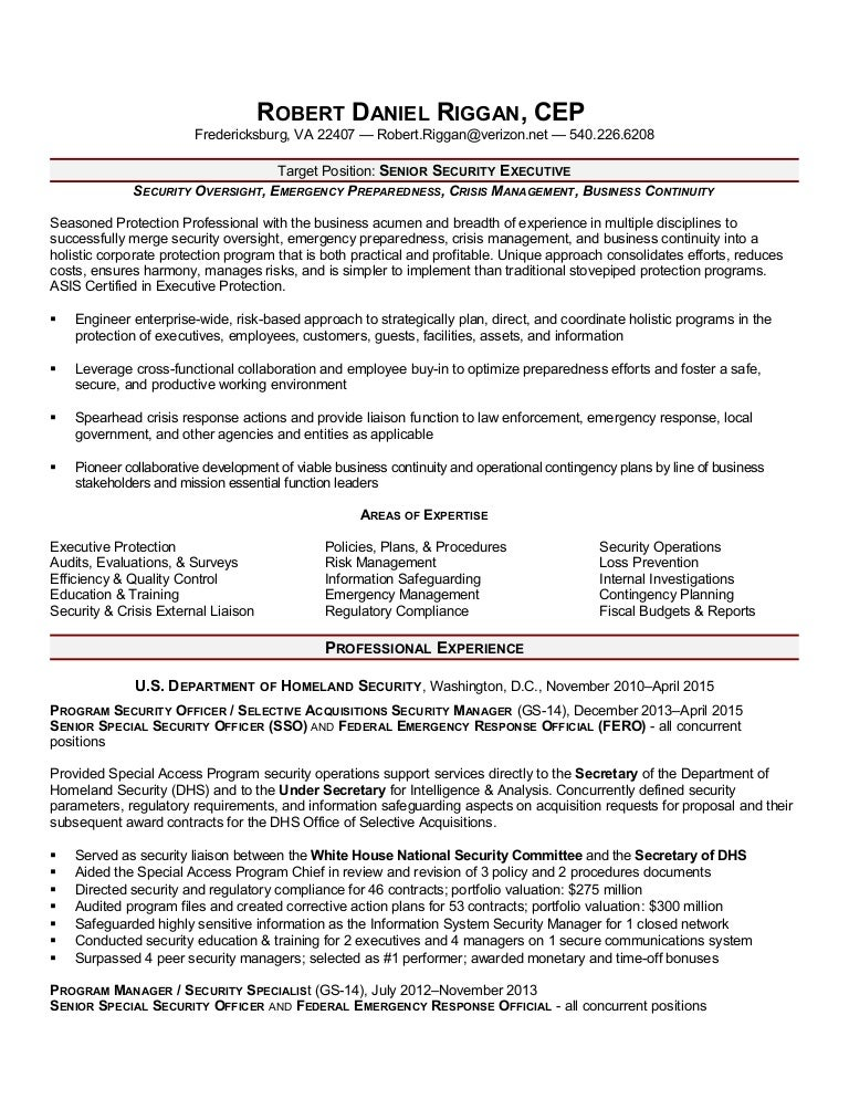 Awesome Homeland Security And Emergency Management Resume Images