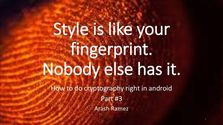 How to do right cryptography in android part 3 / Gated