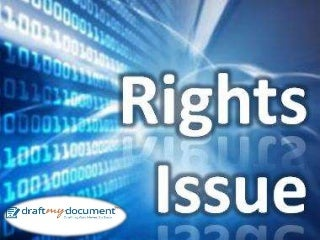 Issue of Right Shares under the Companies Act, 2013
