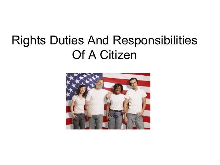 duties of a citizen