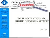 Rights of false accused