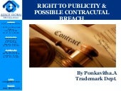 Right to publicity & possible contracutal breach